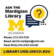 Ask the Mardigian by phone, email or chat at https://library.umd.umich.edu/us/ask.php