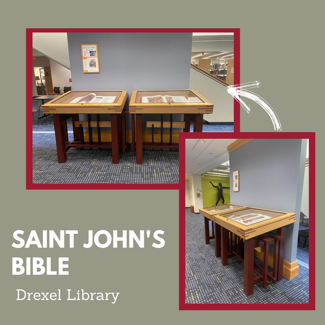 Saint Johns Bible Display