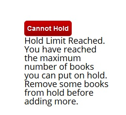 Cannot Hold: Hold Limit Reached