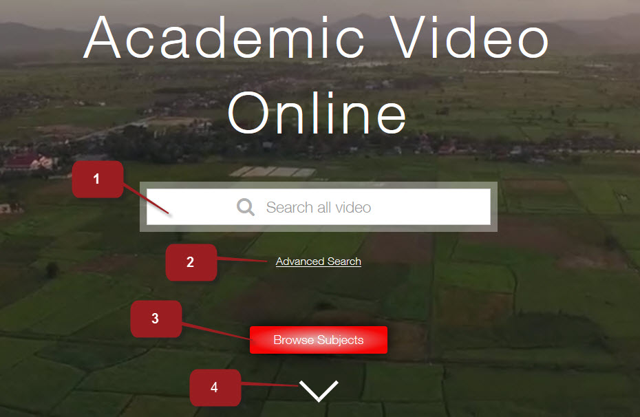 Academic Video Online Home page