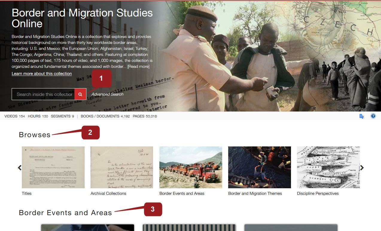 Border and Migrarion Studies homepage