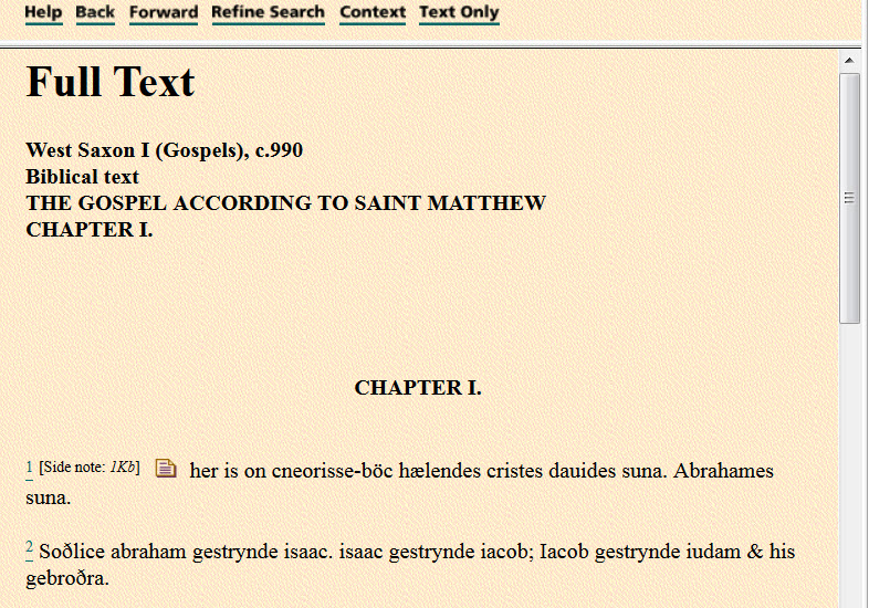 view of text