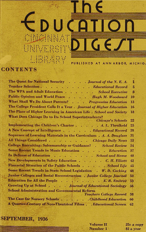 Education Digest cover