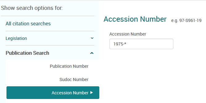 searching using accession number