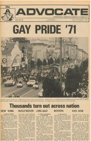 Cover image from The Advocate