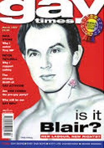 Cover image from the Gay Times