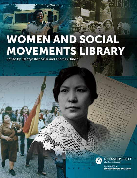 Women and Social Movements Library brochure cpver