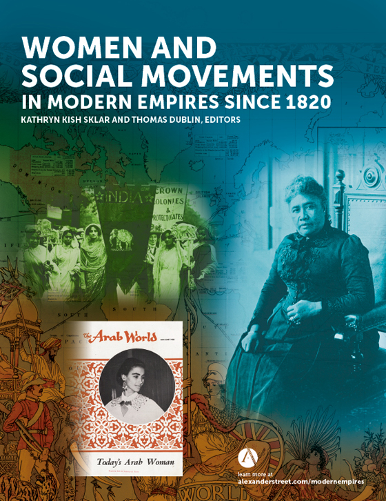 Women and Social Movements in Modern Empires since 1820 brochure cover