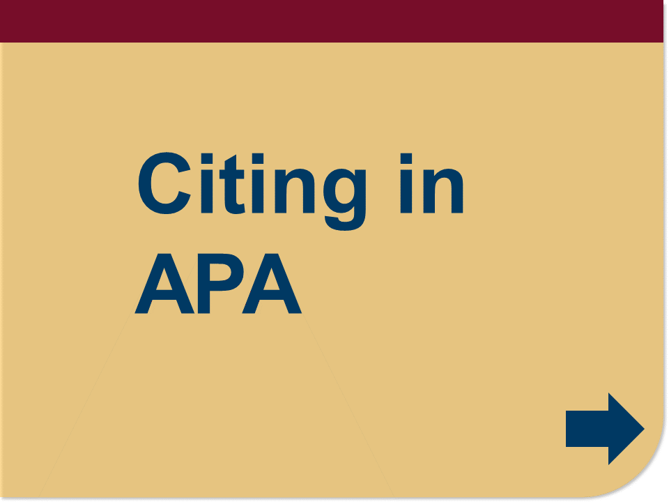 Citing in APA button