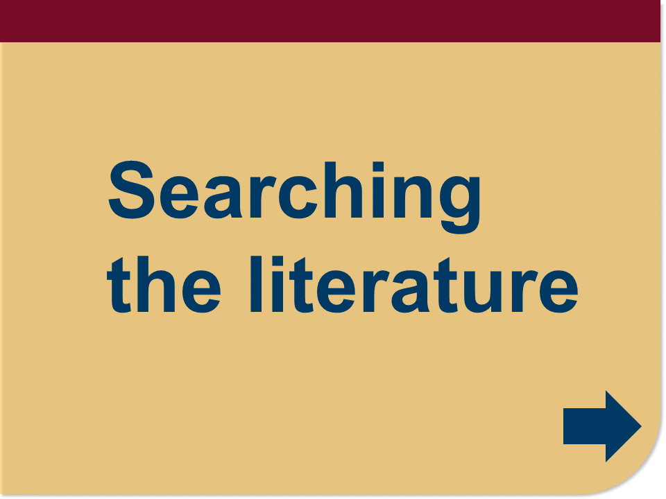 searching the literature button