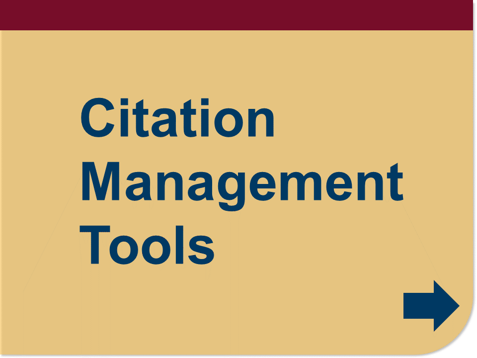 citation management tools button