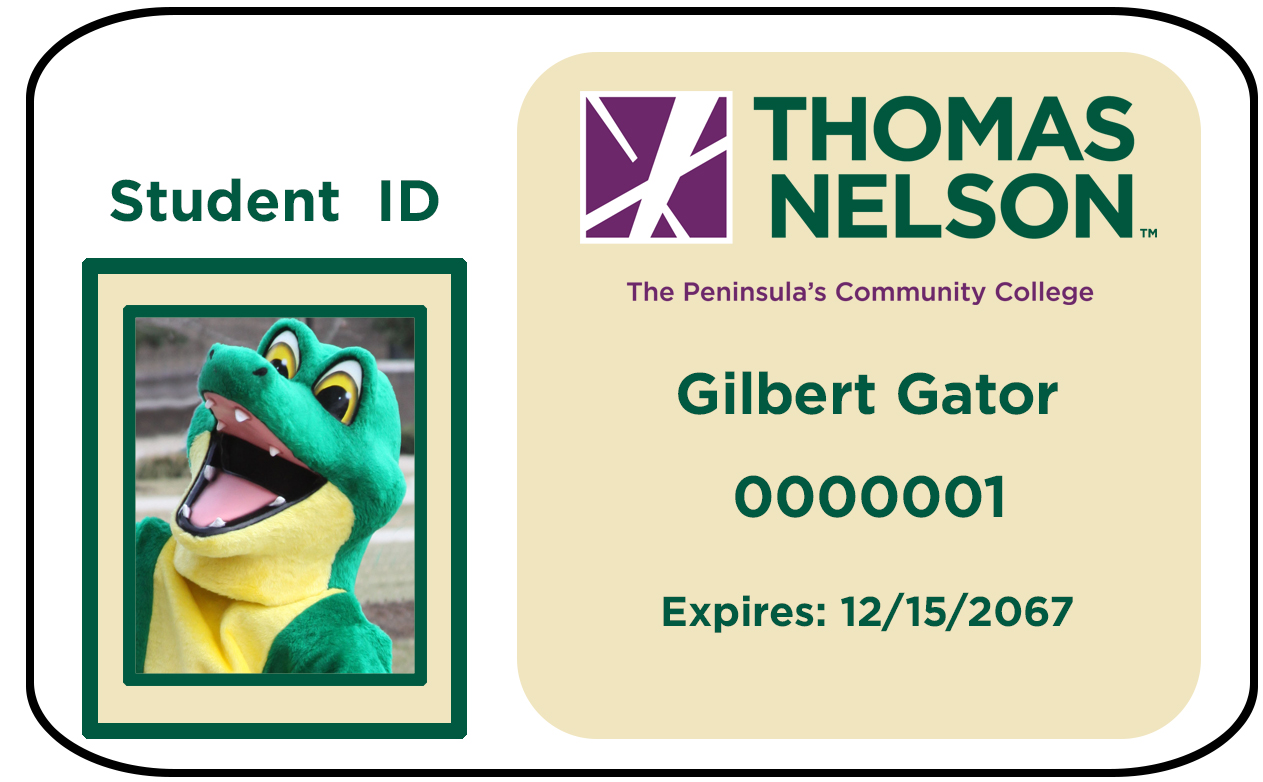 Thomas Nelson Photo ID with Gilbert Gator