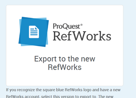 Image of Proquest RefWorks option