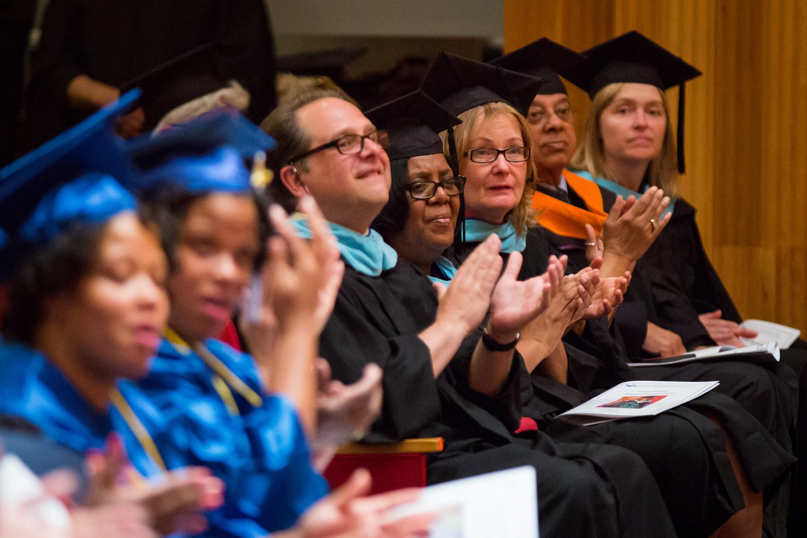 Graduates and faculty at the UB Educational Opportunity Center's (UBEOC) 44th Annual Commencement on May 24, 2017 in Slee Hall