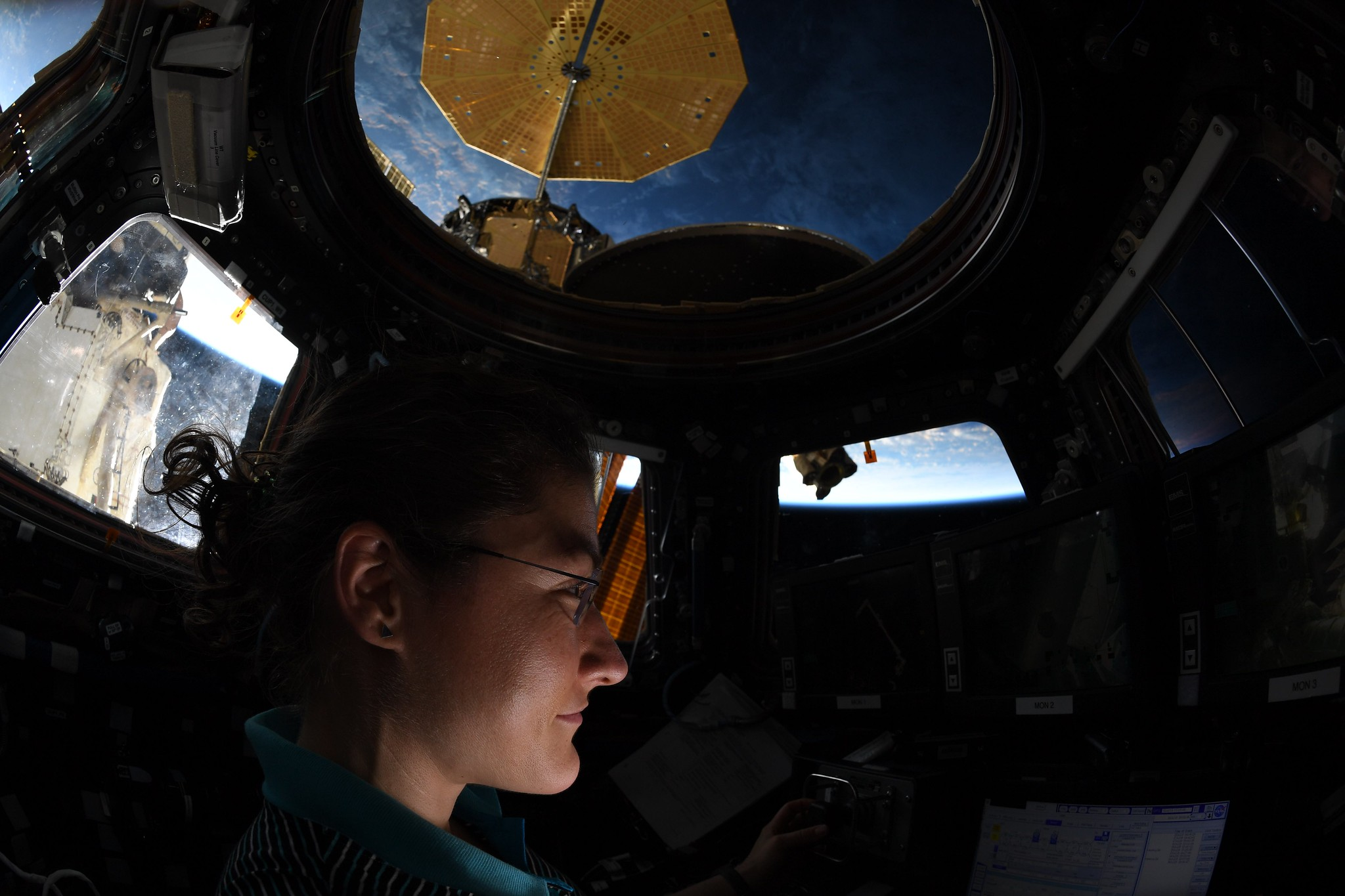 Astronaut Christina Koch on the International Space Station