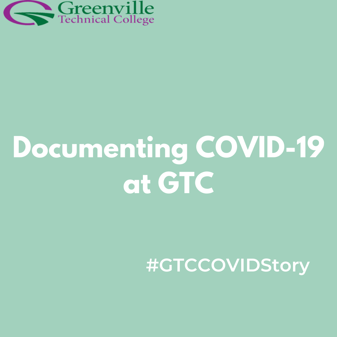 Documenting COVID-19 at GTC image with College logo
