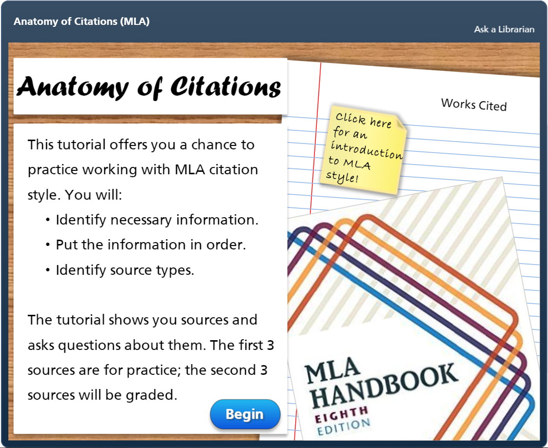Anatomy of Citations - MLA Style
