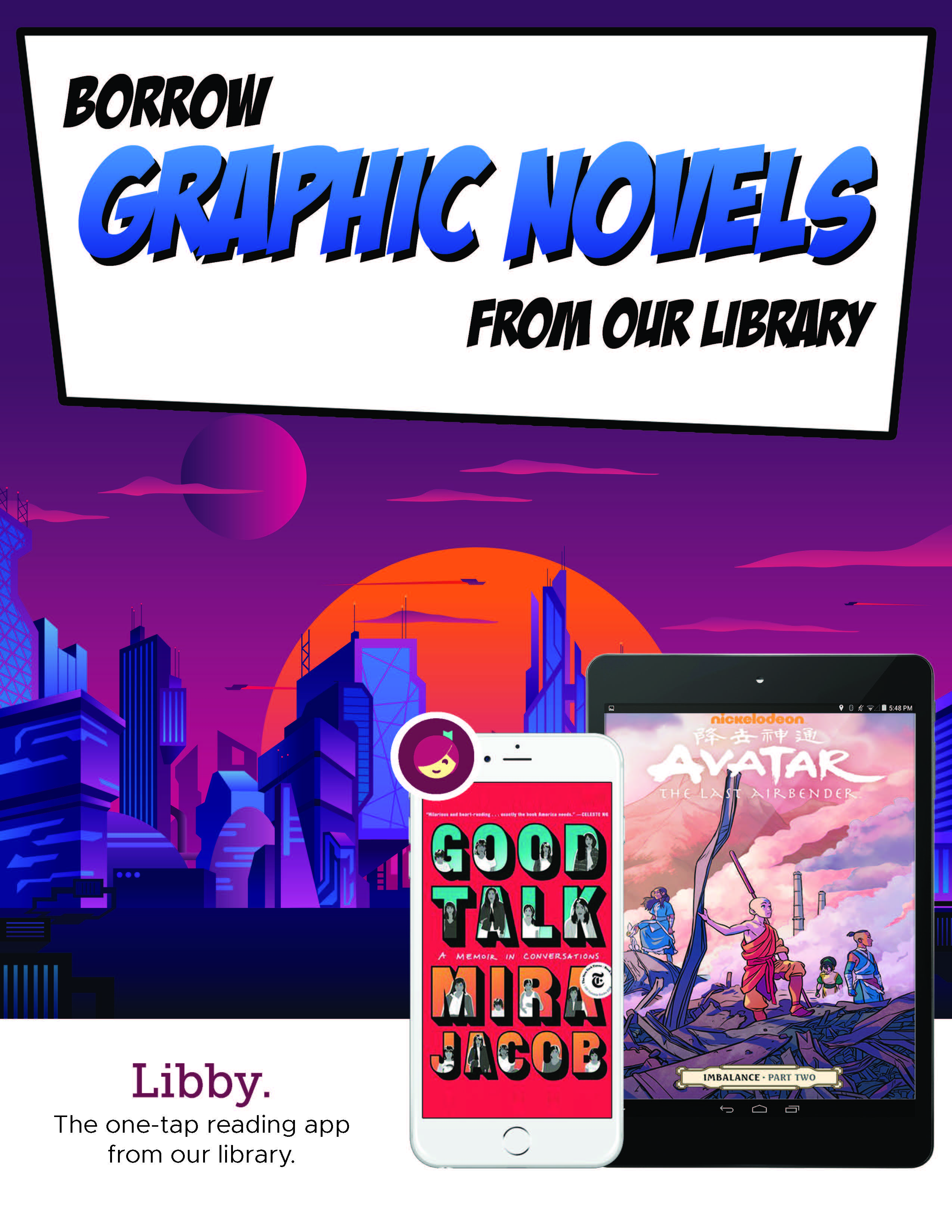 OverDrive offers Graphic Novels