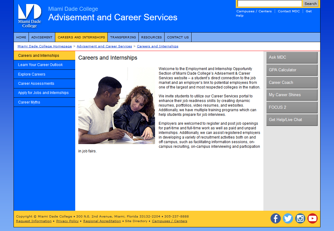 MDC Advisement and Career Services - Careers and Internships