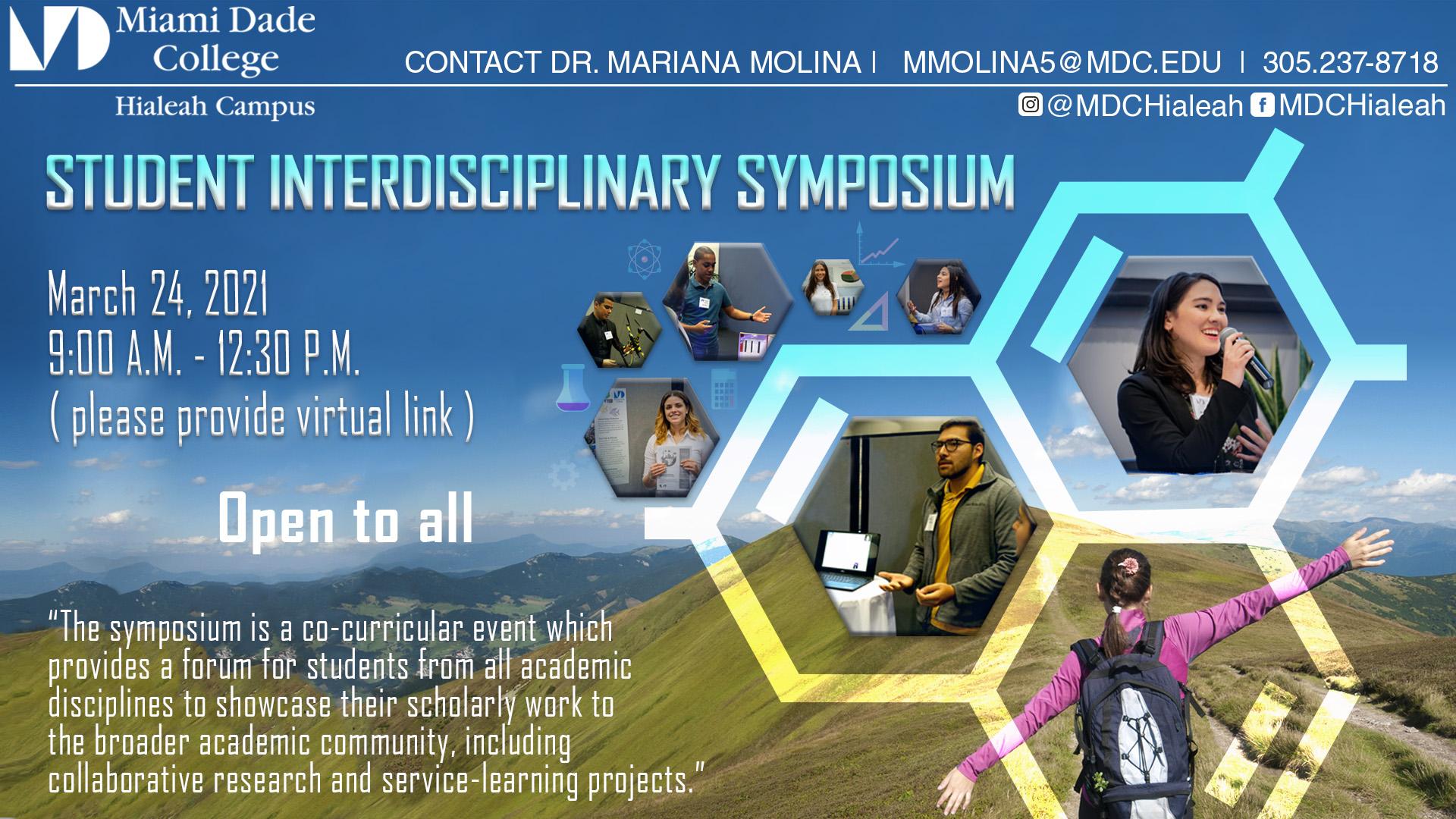Student Interdisciplinary Symposium - March 24, 2021, 9:00 am - 1:30 pm