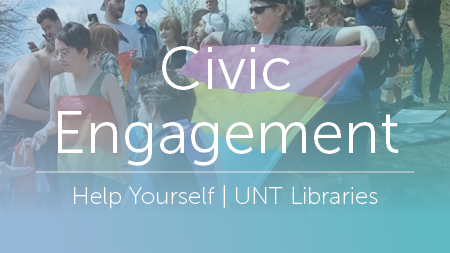 Civic Engagement, Help Yourself Campaign, UNT Library