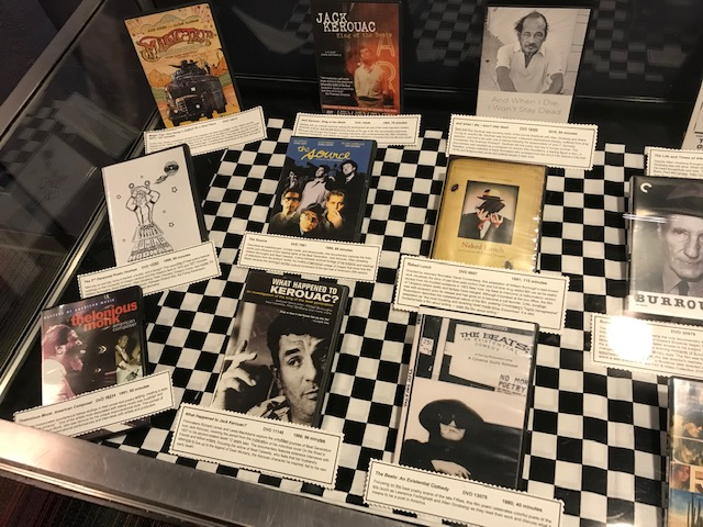 Photograph of Beat Visions on Film display case