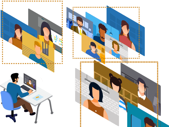 Breakout rooms in online class session