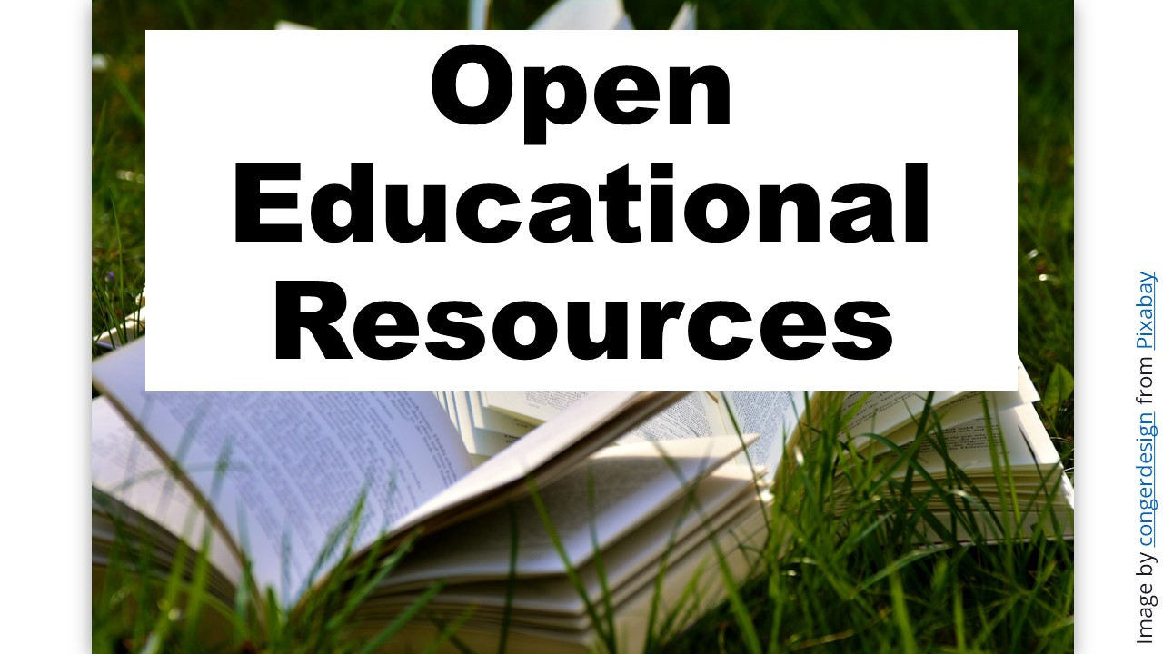 Open educational resources page link
