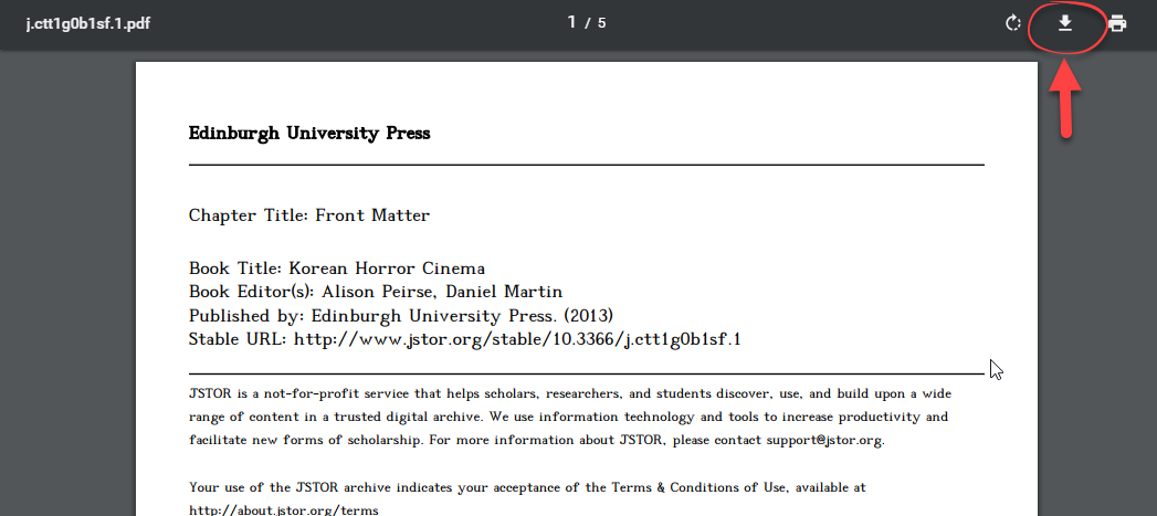jstor download