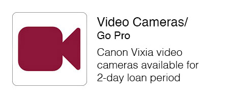 Canon Vixia video cameras available for two day loan period