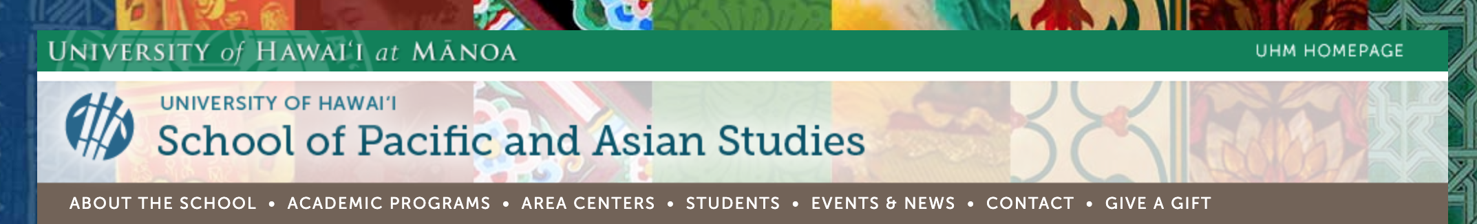 School of Pacific and Asian Studies homepage