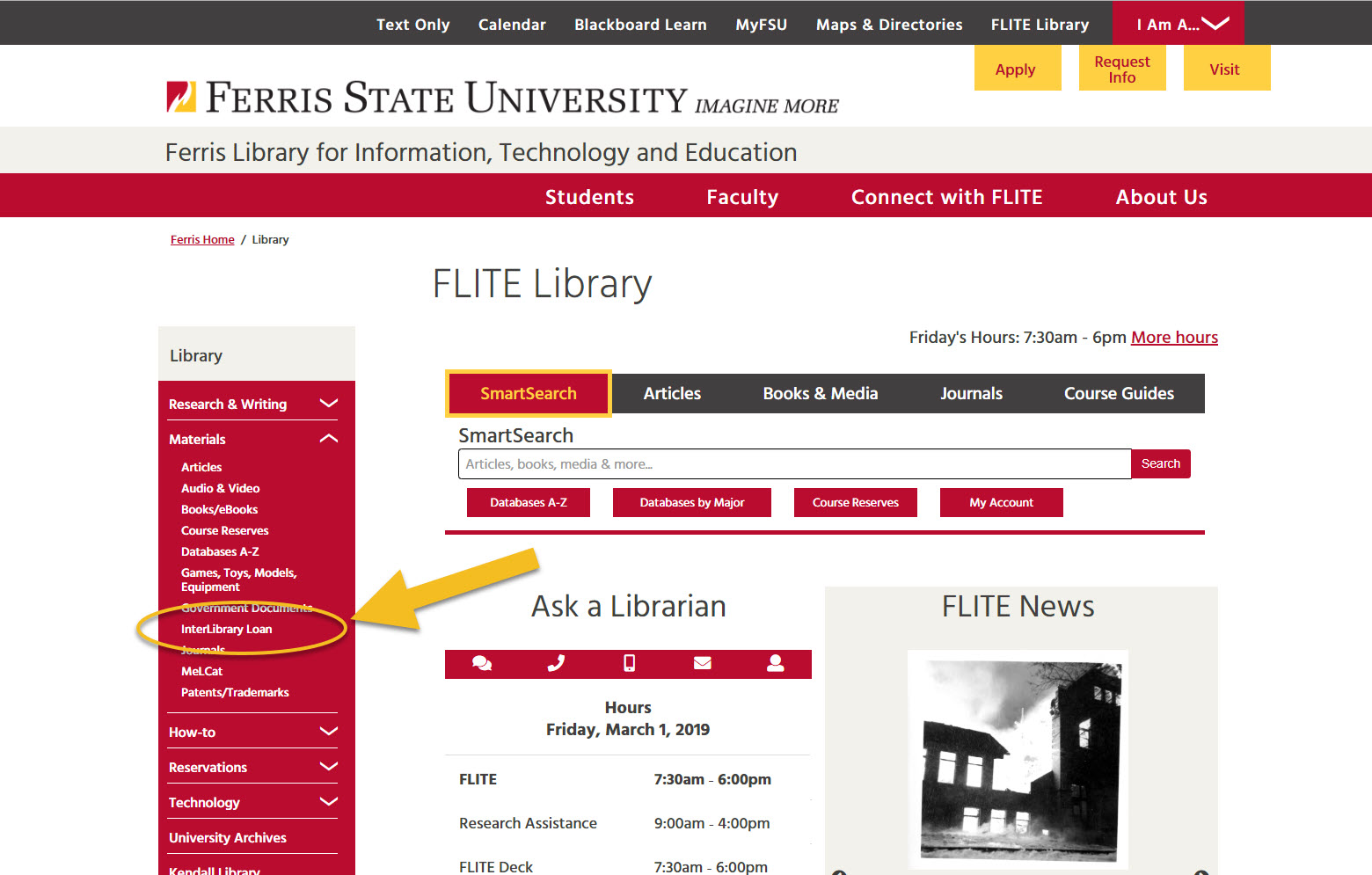 FLITE Library homepage