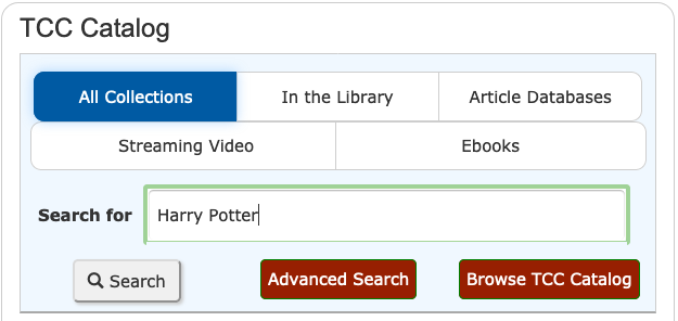 TCC Libraries Search Form