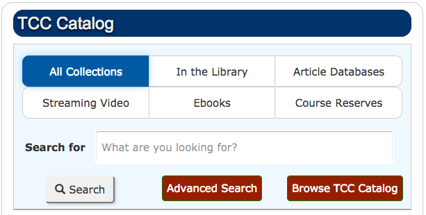 TCC Library Catalog Search