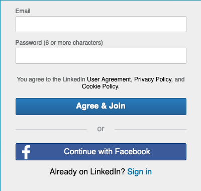 LinkedIn Learning Profile Setup Screen