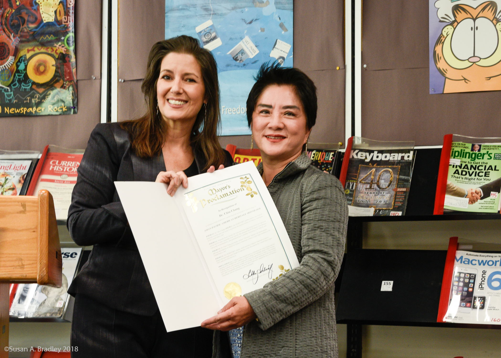 Dr. Chiu Chang & Mayor Libby Schaaf