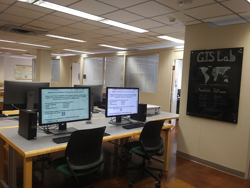 GIS Lab in Science & Engineering Library