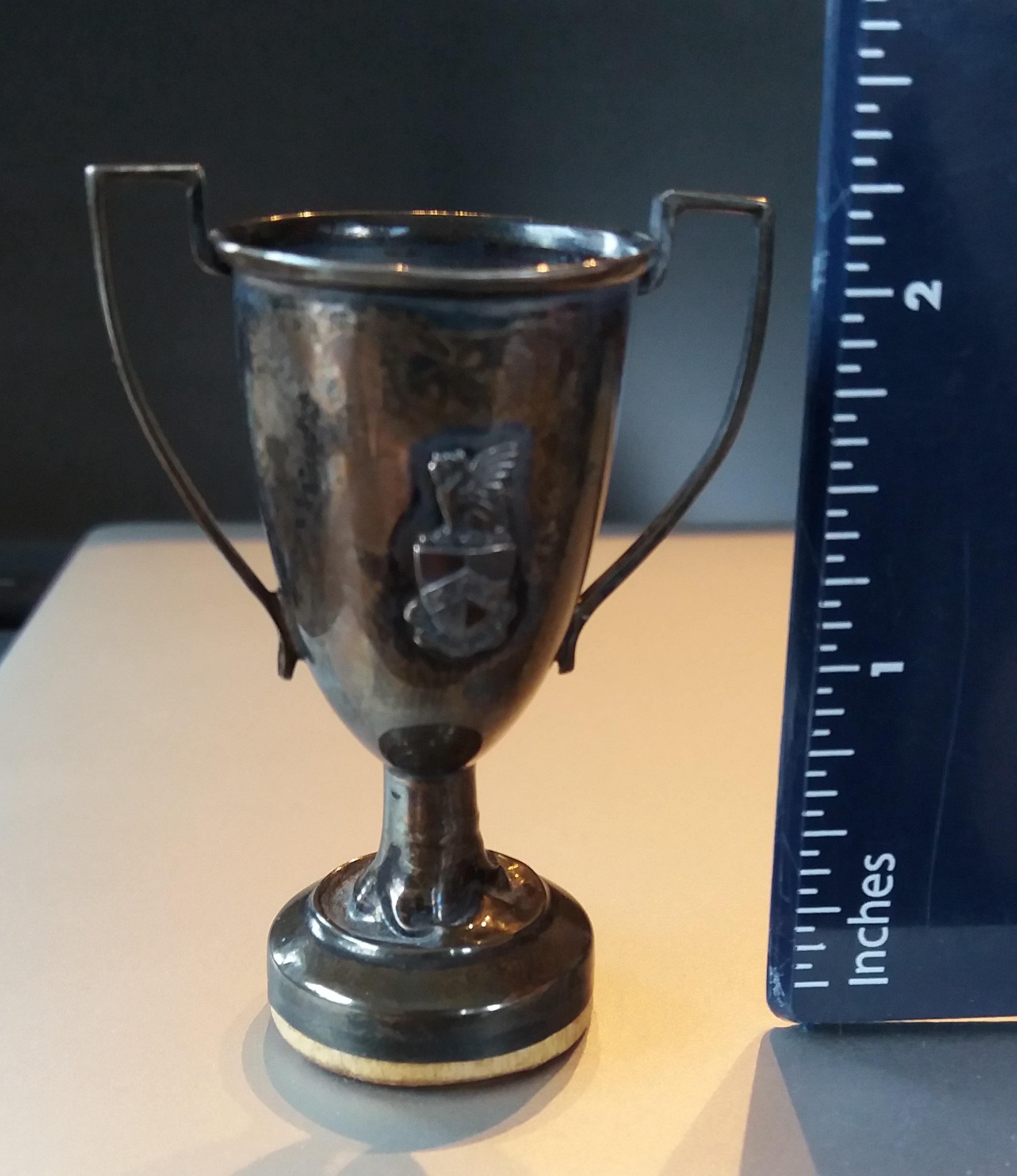 Miniature trophy, CSM Junior Prom 1916