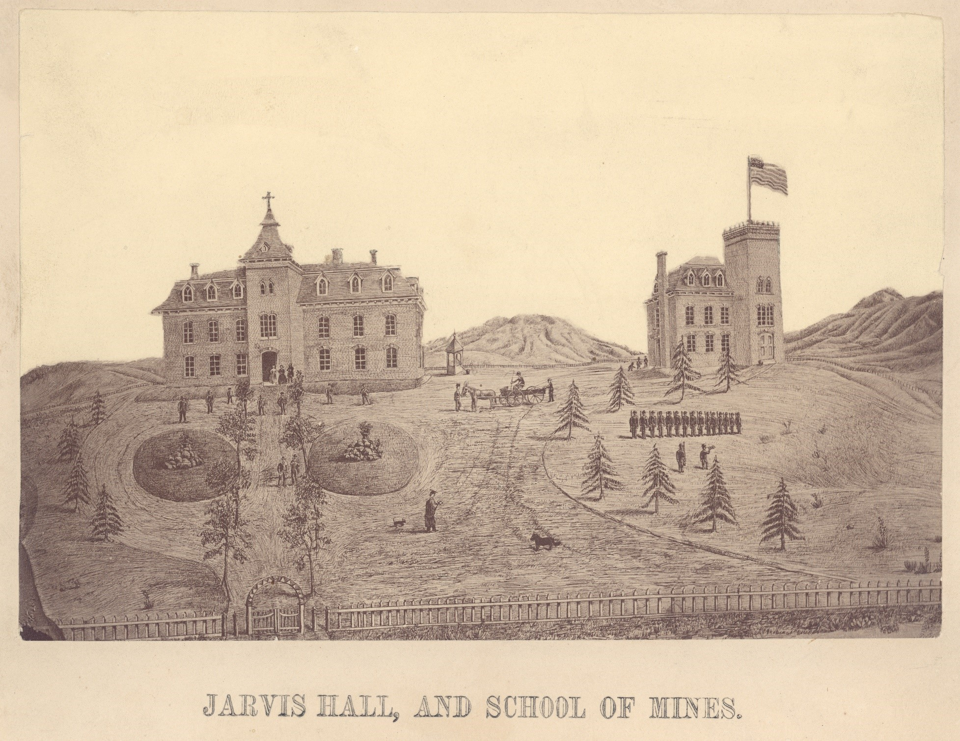 Jarvis Hall and the School of Mines building