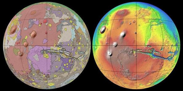Geological map of Mars