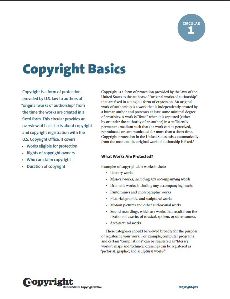 Copyright Basics _ US Copyright Office