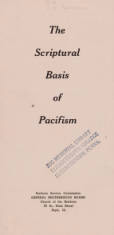 The Scriptural Basis of Pacifism