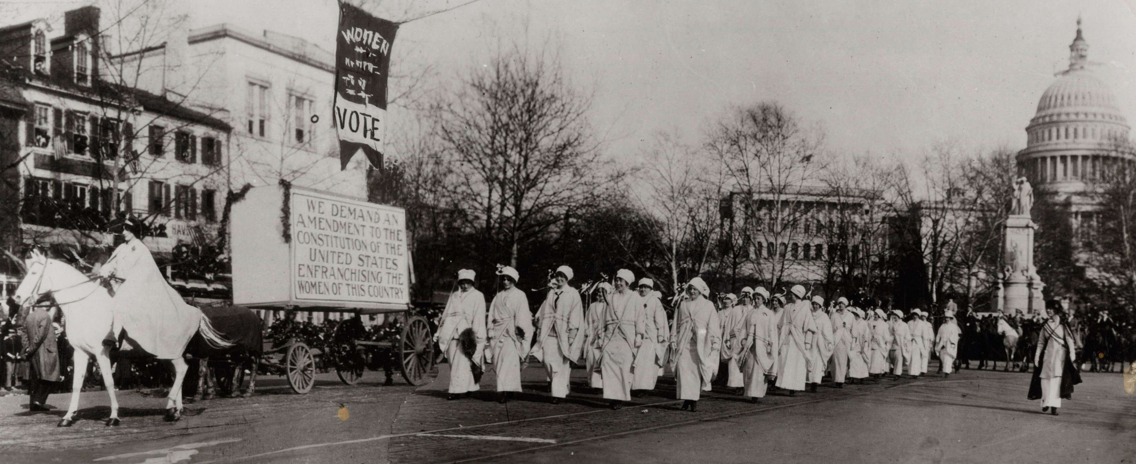 Women Marching in Suffrage Parade in Washington, DC, 1913