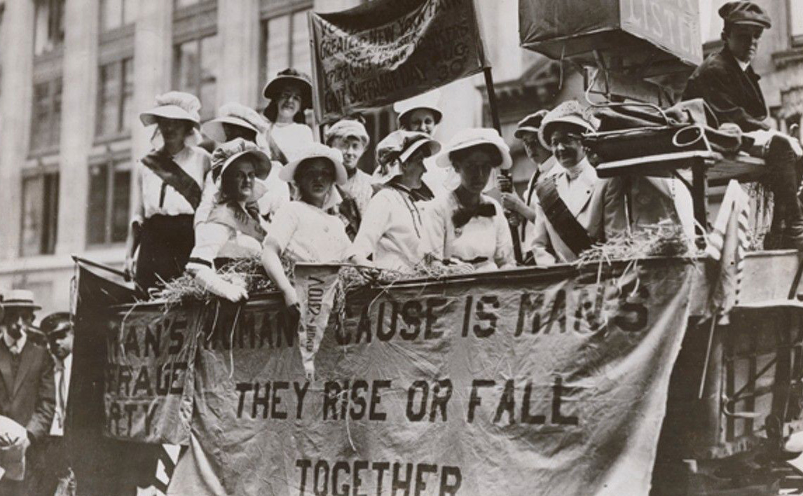 suffrage parade, New York City, 1913