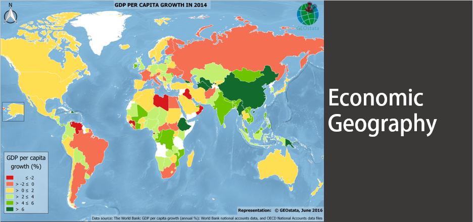 World map of gross GDP