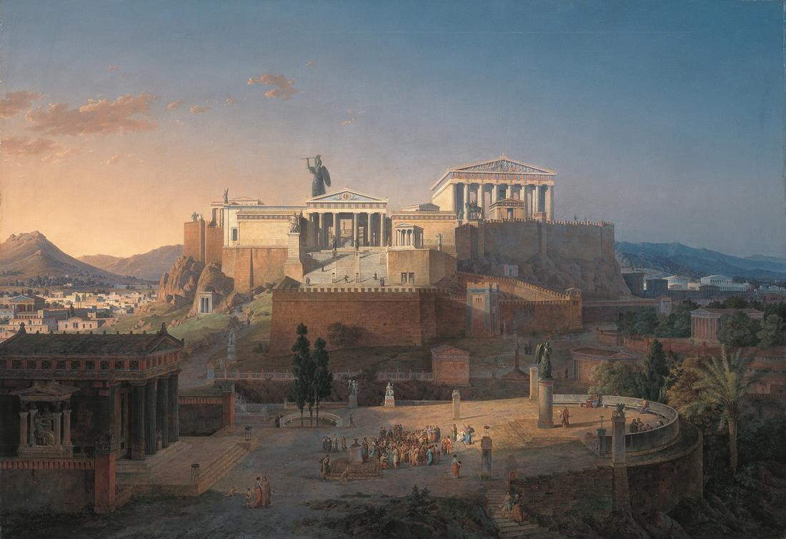 The Acropolis at Athens, by Leo von Klenze (1846)