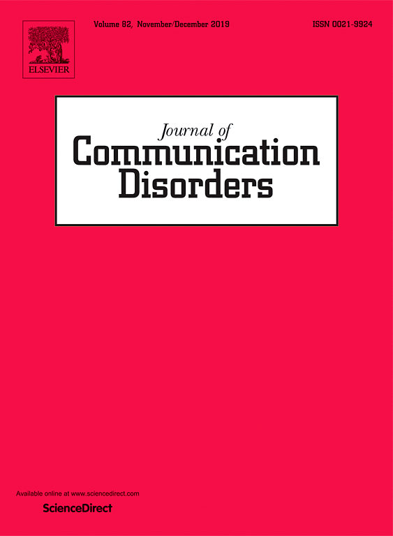 Journal of Communication Disorders