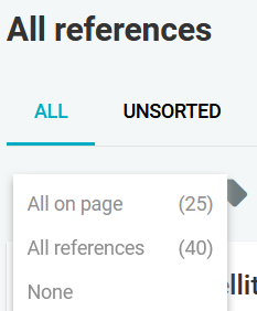 "Select ""All references"""