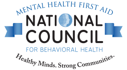 National Council for Behavioral Health logo with blue and black text