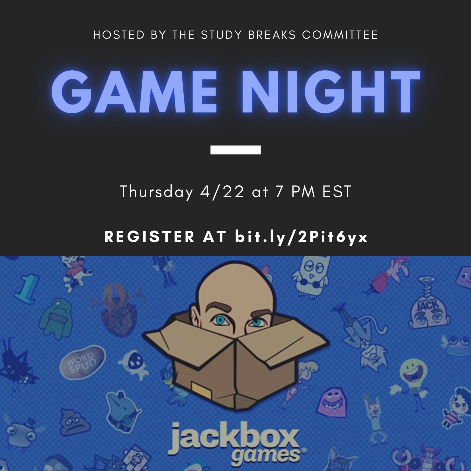 Advertisement for game night.